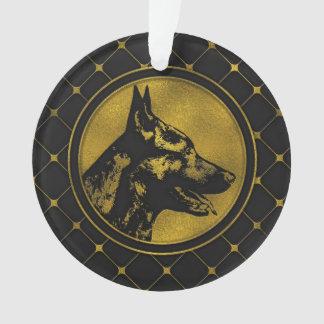 Decorative Golden Dutch Shepherd Design Ornament