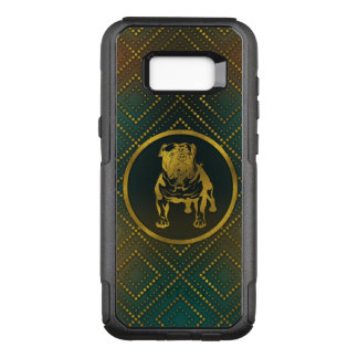 Decorative Golden Embossed - English Bulldog OtterBox Commuter Samsung Galaxy S8+ Case