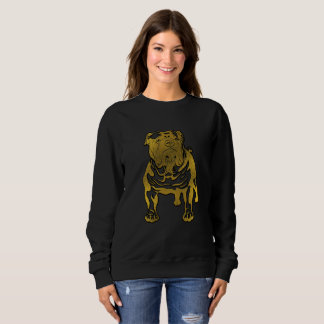 Decorative Golden Embossed - English Bulldog Sweatshirt