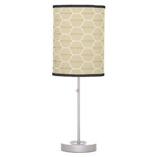 Decorative golden hexagonal pattern Table Lamp
