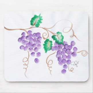 Decorative Grapes Mouse Pad