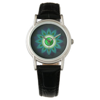 Decorative Green Floral Jewelry Women's Watch