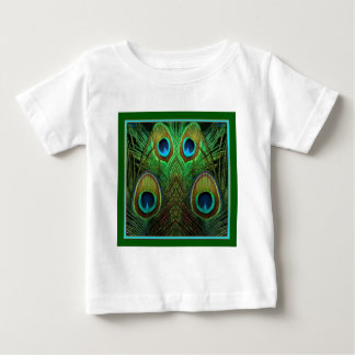 Decorative Green Peacock Feather Eyes Baby T-Shirt