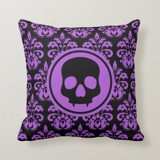 Decorative Halloween skull Throw Pillow