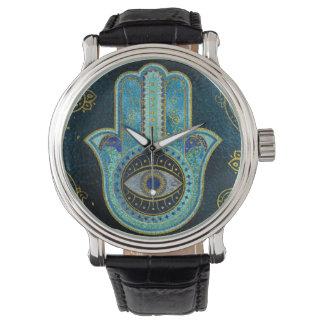 Decorative Hamsa Hand with paisley background Watch