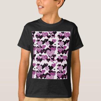 Decorative harts pattern T-Shirt