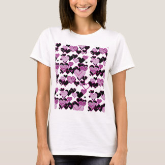 Decorative harts pattern T-Shirt