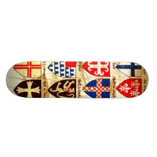 Decorative Heraldry Pattern Skate Decks