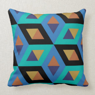 Decorative Hexagons Mosaic Pattern Throw Pillow