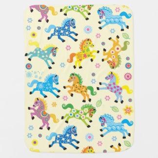 decorative horses baby blanket