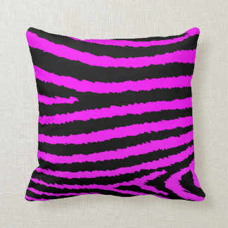 Decorative Hot Pink Zebra Print Pillow