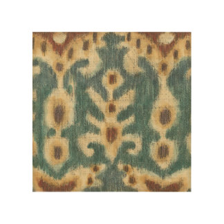 Decorative Ikat Fabric Design by Chariklia Zarris Wood Wall Decor