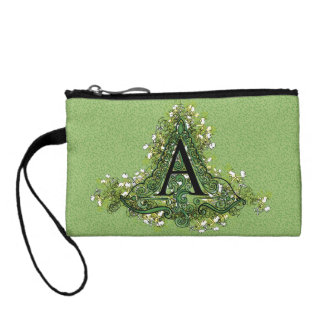 "Decorative Initial ""A"" Coin Purse"
