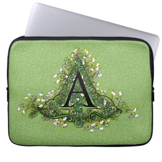 """Decorative Initial """"A"""" Laptop Sleeve"""