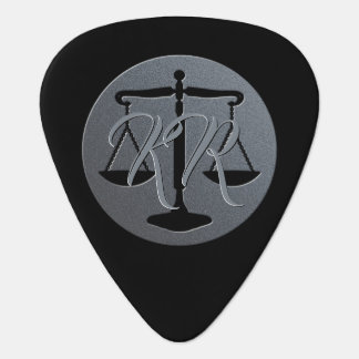 Decorative Initials | Scales of Justice Guitar Pick