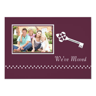 Decorative Key Photo Moving Announcement