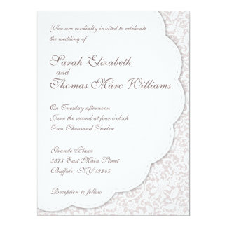Decorative Lace Wedding Invitation
