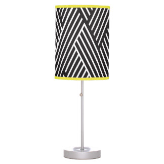 Decorative lamp Crossed Lines Black