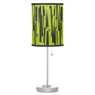Decorative lamp Lime & Black lines