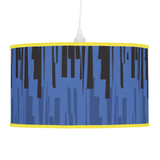 Decorative lamp of Black Lined Ceiling Blue