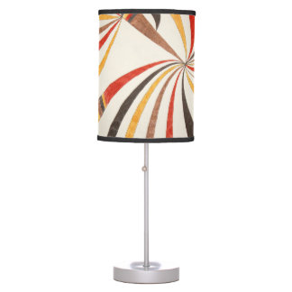 Decorative lamp with abstract drawing