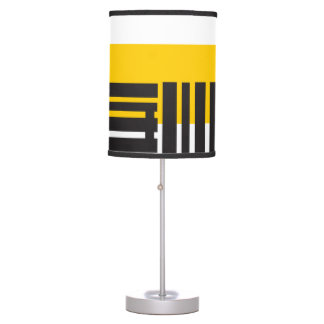 Decorative lamp Yellow Lines Half Black