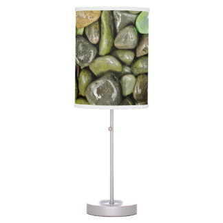 Decorative landscaping rocks table lamp