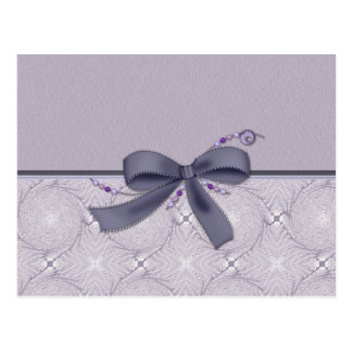 Decorative Lavender with Bow Postcard