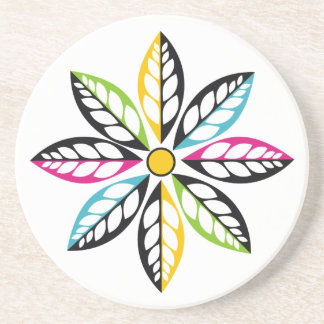 Decorative Leaves-Flower modern, abstract Coaster