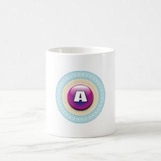 Decorative letter A Basic White Mug