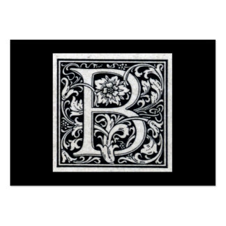 "Decorative Letter ""B"" Woodcut Woodblock Inital Pack Of Chubby Business Cards"