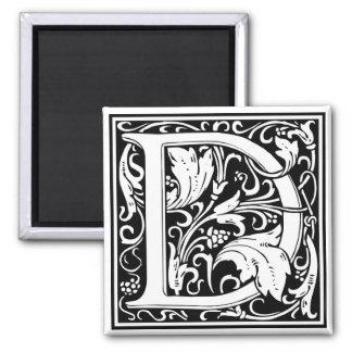 "DecorativeLetter Initial ""D"" Square Magnet"