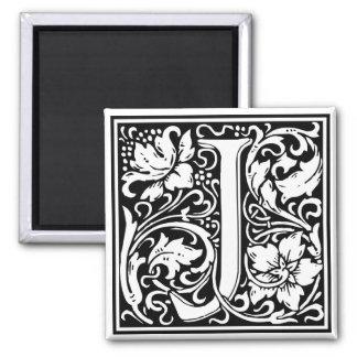 "DecorativeLetter Initial ""J"" Square Magnet"