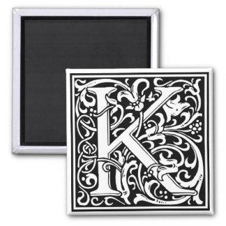 """DecorativeLetter Initial """"K"""" Magnet"""