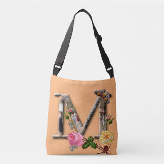 "Decorative Letter Initial ""M"" Crossbody Bag"