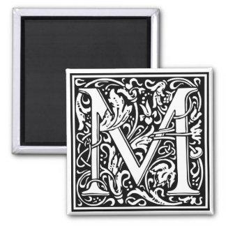 "DecorativeLetter Initial ""M"" Magnet"