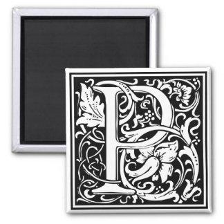 """DecorativeLetter Initial """"P"""" Square Magnet"""