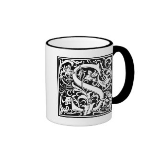 """DecorativeLetter Initial """"S"""" Ringer Mug"""