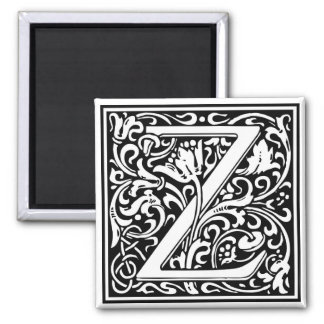 "DecorativeLetter Initial ""Z"" Magnet"