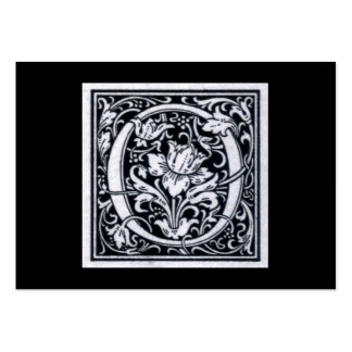 "Decorative Letter ""O"" Woodcut Woodblock Initial Large Business Cards (Pack Of 100)"