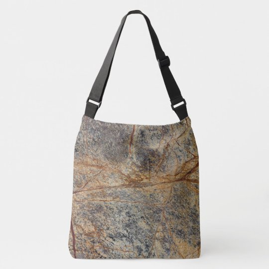 Decorative Marble Pattern Crossbody Bag