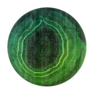 Decorative modern green trendy unusual cutting board