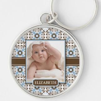 Decorative Mommy's Keychain (chocolate/baby blue)