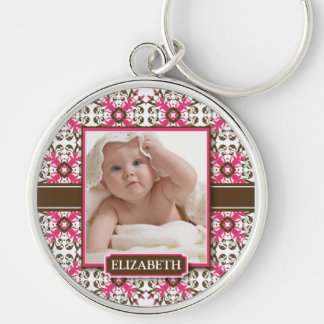 Decorative Mommy's Keychain (chocolate/fuchsia)