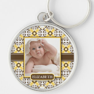 Decorative Mommy's Keychain (chocolate/yellow)