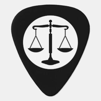 Decorative Monogram | Scales of Justice Guitar Pick