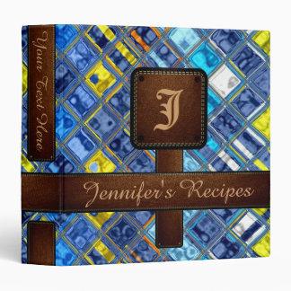 Decorative Mosaic Tiles Pattern #5 Vinyl Binder