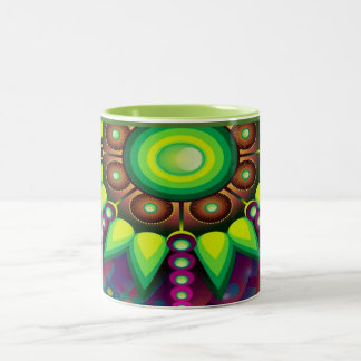 Decorative Multi-Color Retro Design Mug