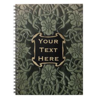 Decorative old book cover: Retro floral design