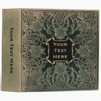 Decorative old book cover: Retro floral design Binder